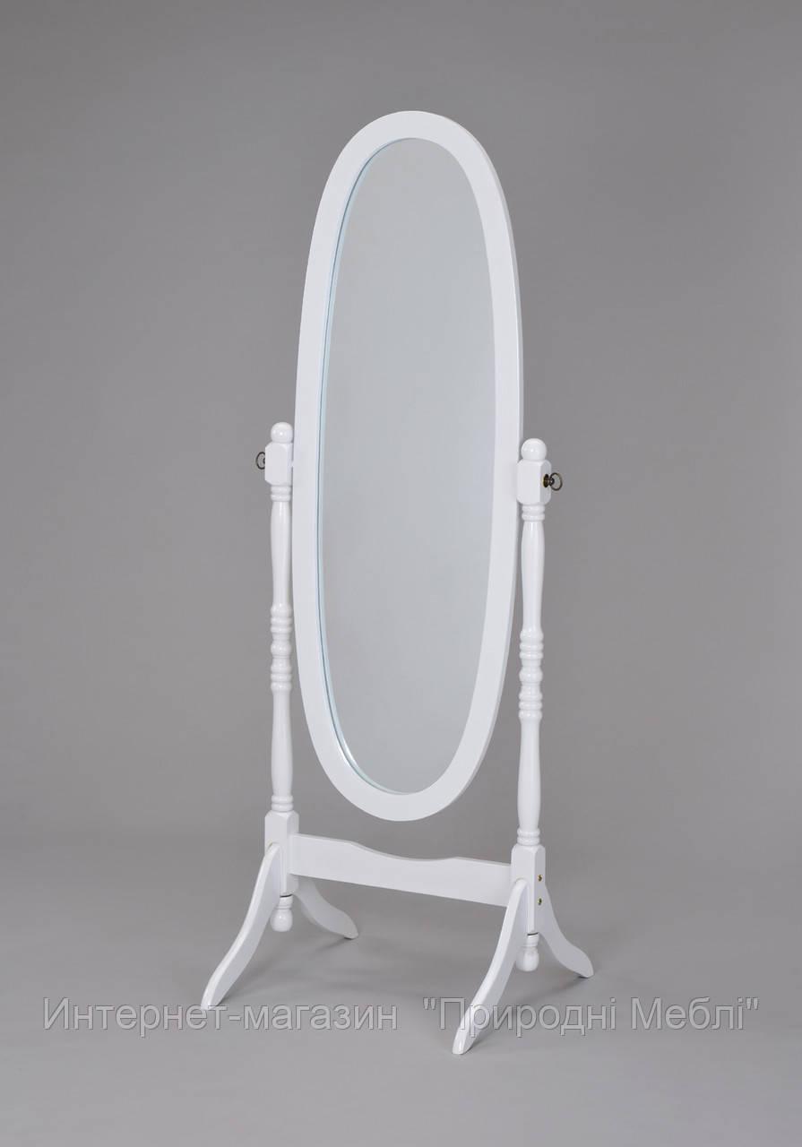 Зеркало напольное белое W-58