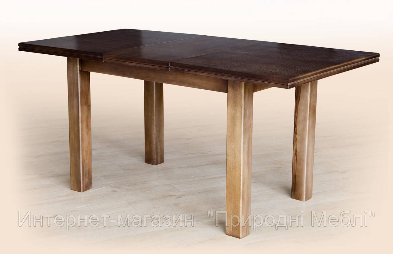 Стол обеденный раскладной Петрос темный орех