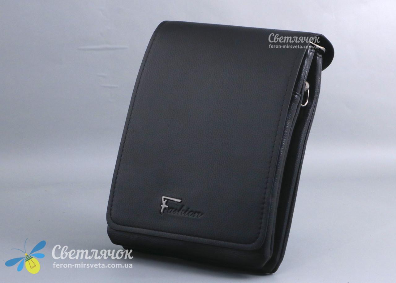 Сумка барсетка мужская Fashion 0201-3  черная