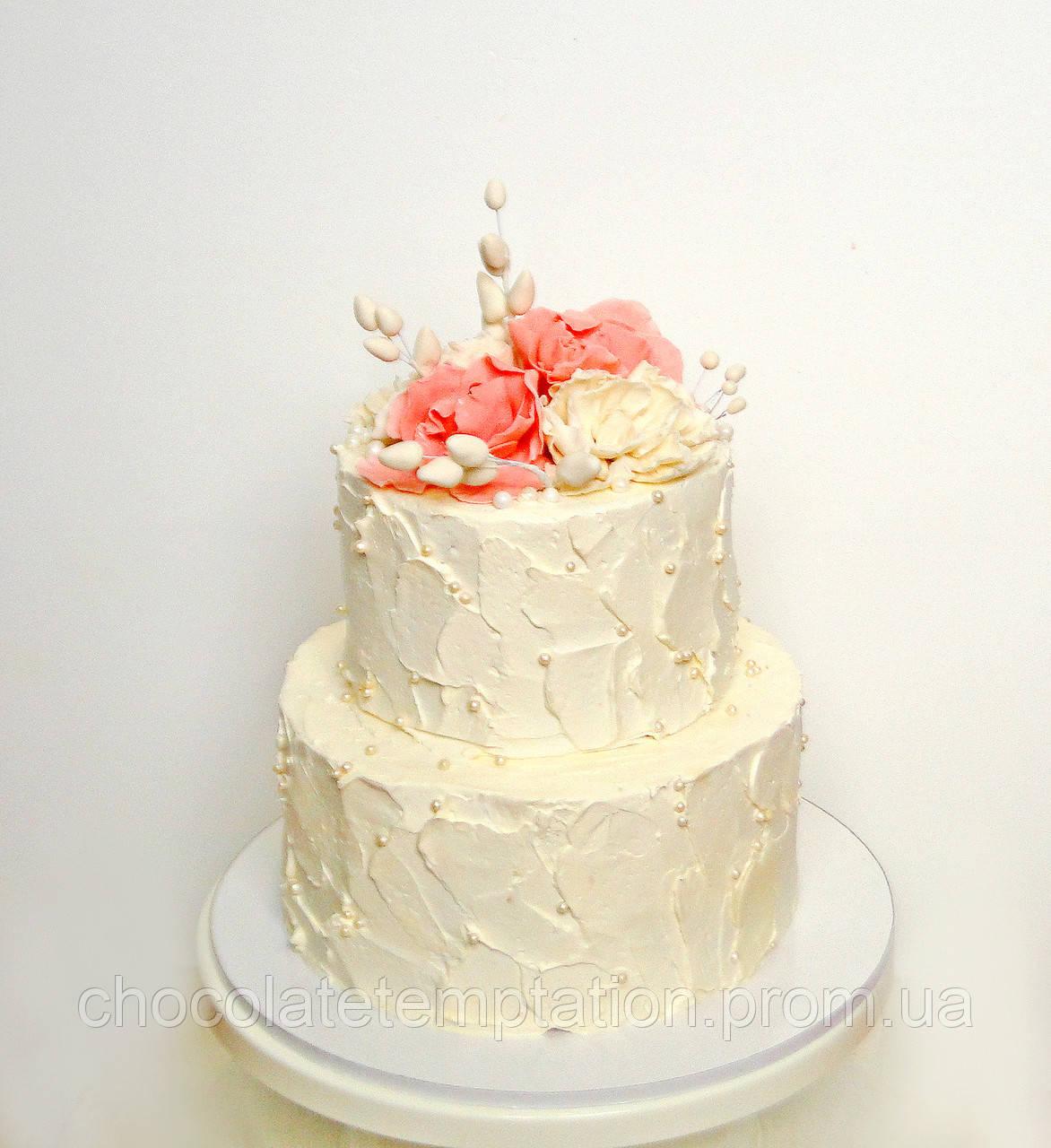 Свадебные торты (с мастикой, без мастики, муссовые, веганские)