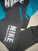 Костюм спортивный для мальчика-подростка серо- бирюзовый с принтом Nike