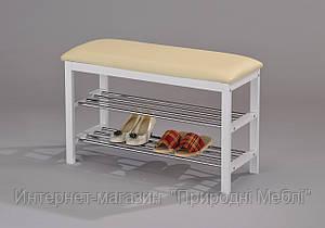 Скамейка для обуви W-38  белая