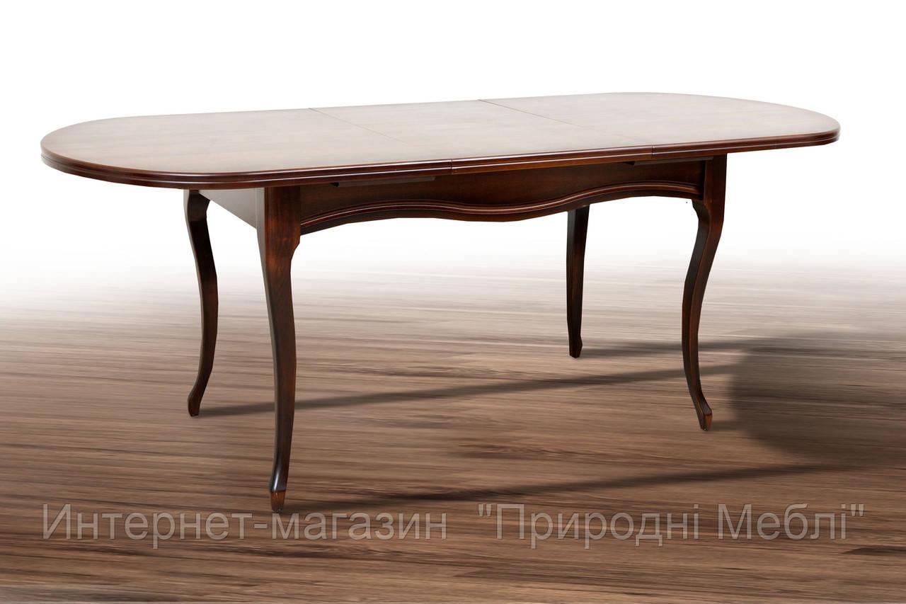Стол деревянный раскладной Оливер темный орех