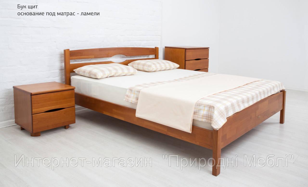 Кровать односпальная деревянная Ликерия Люкс 0,9м без изножья