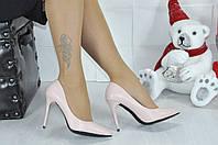 Женские туфли лодочки пудра,экокожа, Турция,каблук 10см  ,размеры 36,37,38,39,40
