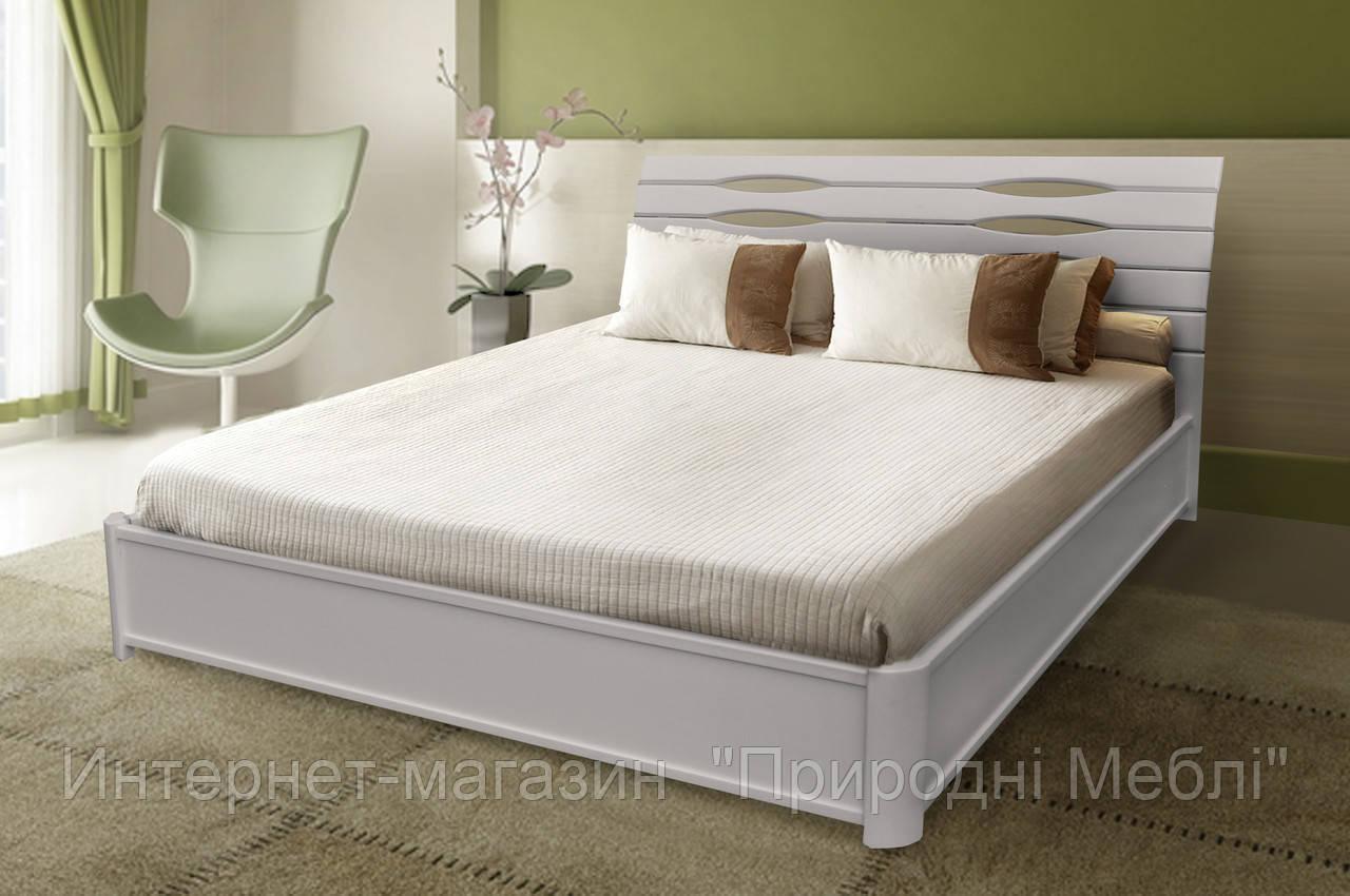Кровать двухспальная Мария белая с подъемной рамой 1,8м