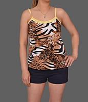 """Комплект домашней одежды майка и шортики стрейч """"Тигрица"""""""