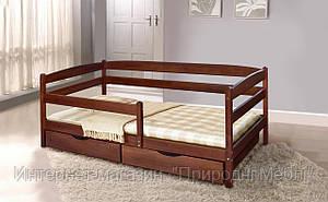 Кровать подростковая Ева 80х190 с ящиками и боковой планкой