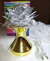 Диско лампа Цветок LED (проектор) светодиодная, на проводе 220V, фото 3