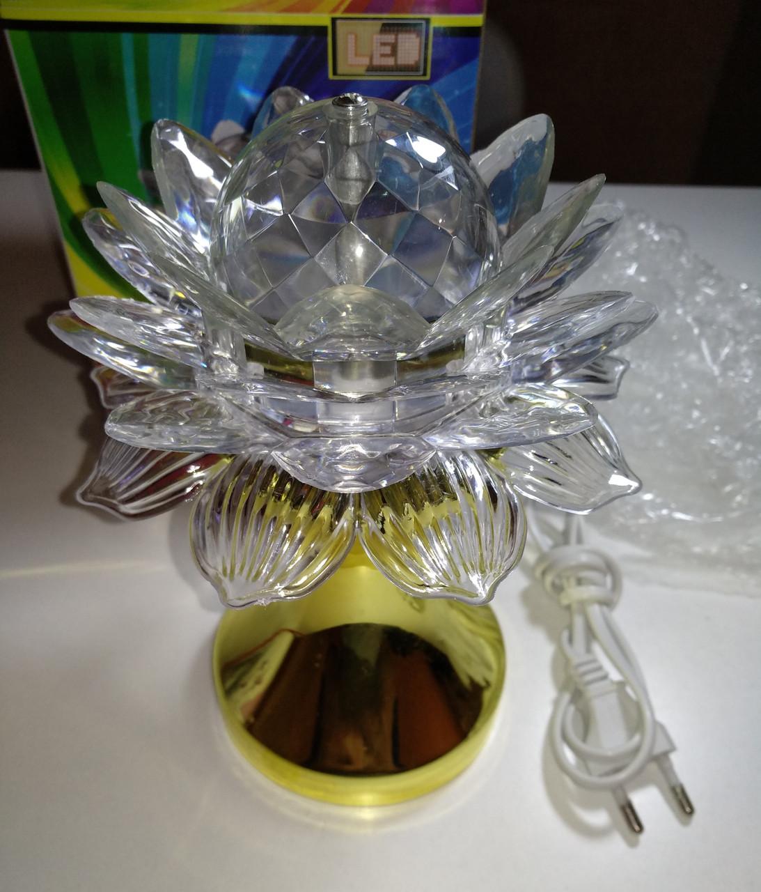 Диско лампа Цветок LED (проектор) светодиодная, на проводе 220V