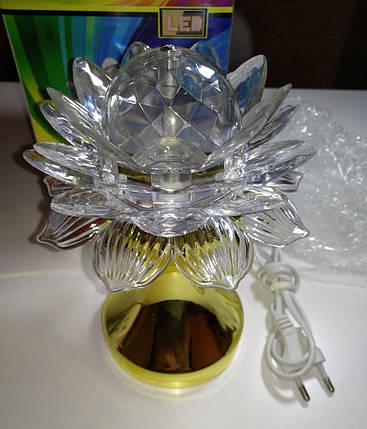 Диско лампа Цветок LED (проектор) светодиодная, на проводе 220V, фото 2