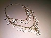 Ожерелье / Колье / Бусы из натурального Горного Хрусталя (Кварца)