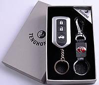 Подарочный набор (TOYOTA) 2в1 Зажигалка, Брелок №4430 Код:460329020