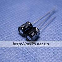 Конденсатор 16V 220uF (105°C) Chang