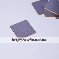 Медная пластина, термопрокладка 15х15х0.3