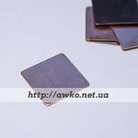 Медная пластина, термопрокладка 15х15х0.4