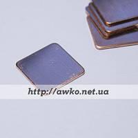 Медная пластина, термопрокладка 15х15х0.8