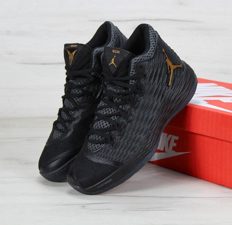 75559a50 Кроссовки в Стиле Nike Air Jordan Melo M13 Black Мужские — в ...
