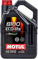 Motul 8100 ECO-lite SAE 5W-30 синтетическое моторное масло, 5 л (839551)