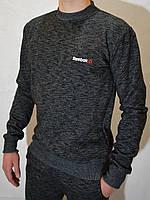 Мужская утепленная спортивная кофта (свитшот) Reebok - черная