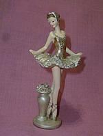 Балерина в золотом статуэтка фигурка 15 сантиметров высота