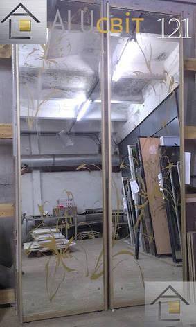 Фасады (двери) для шкафов купе (покрашенный пескоструй), фото 2