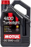 Motul 4100 Turbolight SAE 10W-40 полусинтетическое моторное масло, 4 л (387607)