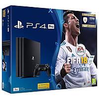 Игровая приставка Sony PlayStation 4 Pro 1TB + игра FIFA 18