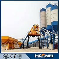 Стационарный бетонный завод HZS50, 50м3/ч, низкая цена