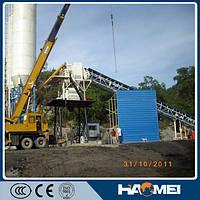 Стационарный бетонный завод HZS60, 60м3/ч, низкая цена