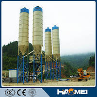 Стационарный бетонный завод HZS75, 75м3/ч, низкая цена