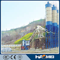 Стационарный бетонный завод HZS90, 90м3/ч, низкая цена