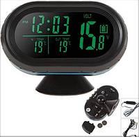 Автомобильные часы, термометр, вольтметр VST-7009 Код:475252675
