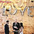 Набор из фольгированных букв LOVE , Серебро, 100 см, фото 2