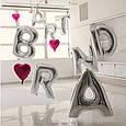Фольгована буква E срібло, 100 см, фото 2