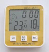 Термометр гигрометр DC-107, с часами, календарем Код:475253845