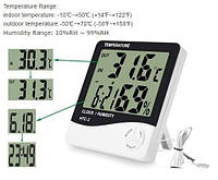 Цифровой термометр гигрометр Htc-2 с выносным датчиком температуры Код:475254160