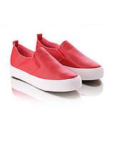 Слипоны красного цвета обувь для женщин хорошие