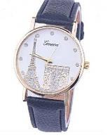 Часы Женева Geneva Эйфелева башня черный ремешок Код:332696150