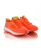 Оранжевые женские кроссовки обувь для женщин конфискат