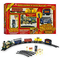 Железная дорога 2031 р / у, паровоз 35см, звук, свет, дым, вагоны 3шт, на бат-ке, в кор-ке, 90-51,5-11,5см