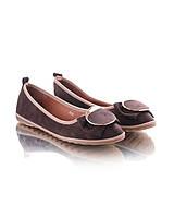 Балетки замшевые с бантиком женская обувь 13158 конфискат