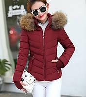 Женская куртка меховой воротник, женская куртка осень весна, жіноча куртка