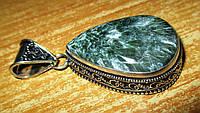 """Шикарный серебряный кулон  с натуральным серафинитом """"Рафаил"""" ,  от студии LadyStyle.Biz, фото 1"""