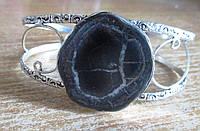 """Шикарный серебряный браслет с септарией  """"Змейка"""" ,  от студии LadyStyle.Biz, фото 1"""