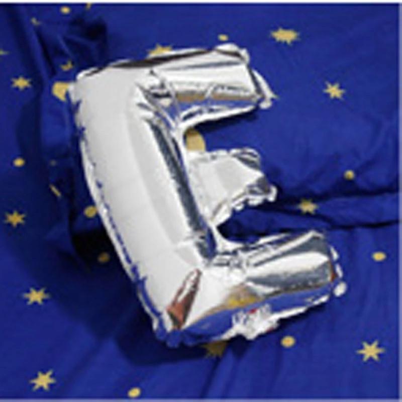 Фольгована буква E срібло, 100 см