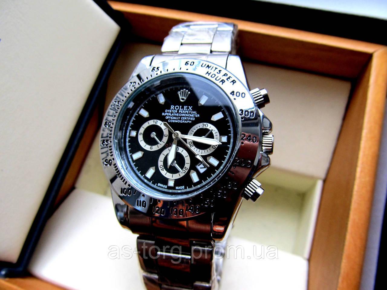 2d4a6a15eaa8 Мужские наручные часы Rolex Daytona серебро, часы физрука -  Интернет-магазин