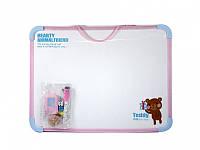Доски детские для рисования Deli 7803Е 30х40 маркер+3магнита+губка (игра) Код:388906650