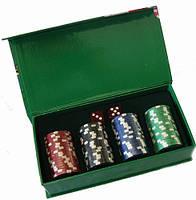 Набор фишек для покера + игральные кости №72 Код:426318929