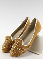 12-15 Светло-коричневые женские лоферы с шипами W102 39,37,38